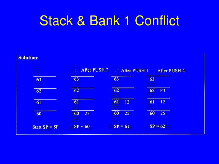 Stack & Bank 1 Conflict