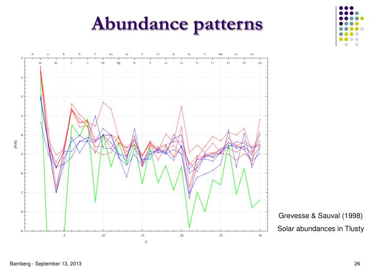 Abundance patterns
