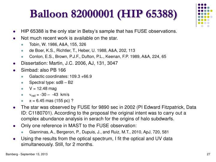 Balloon 82000001 (HIP 65388)