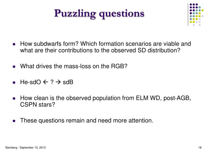 Puzzling questions