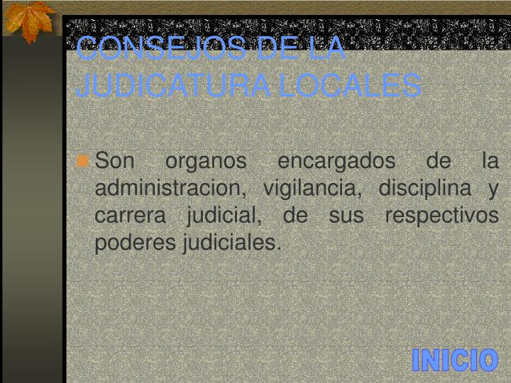 CONSEJOS DE LA JUDICATURA LOCALES