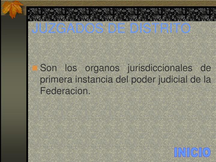 Juzgados de distrito