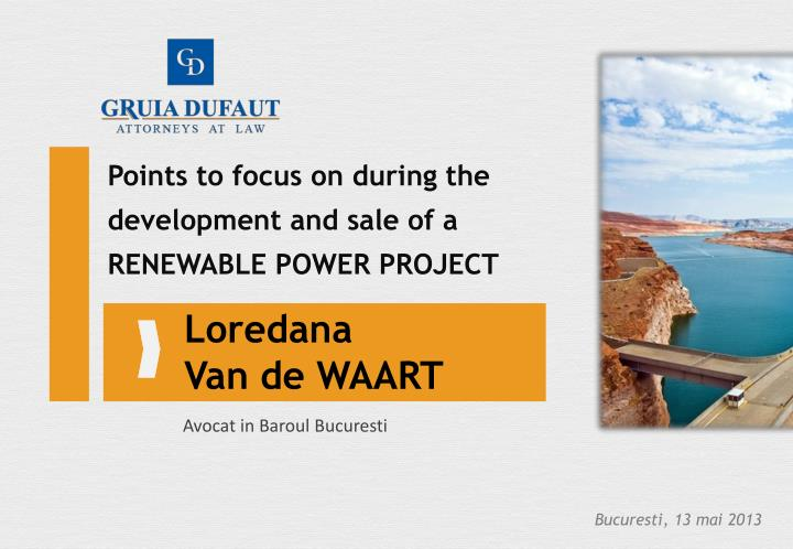 Points to focus on during the development and sale of a RENEWABLE POWER PROJECT