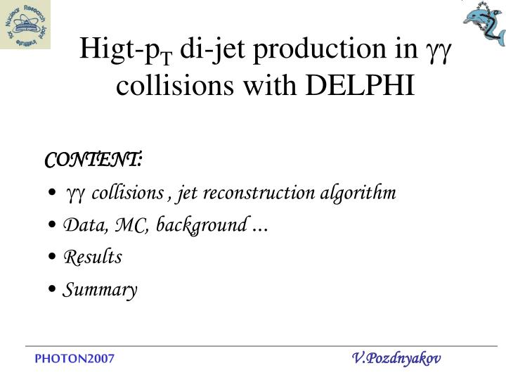 higt p t di jet production in gg collisions with delphi