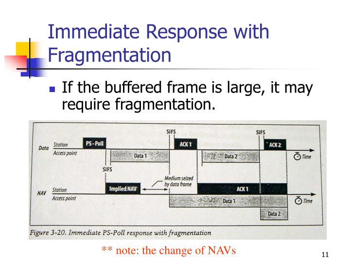 Immediate Response with Fragmentation