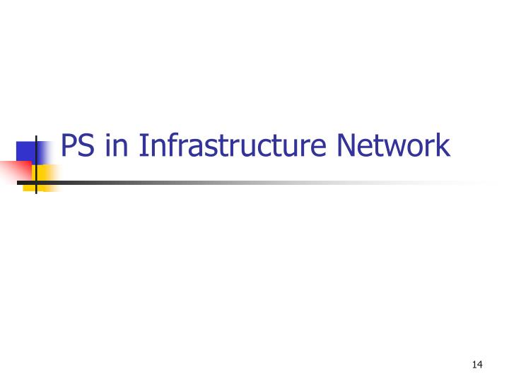 PS in Infrastructure Network