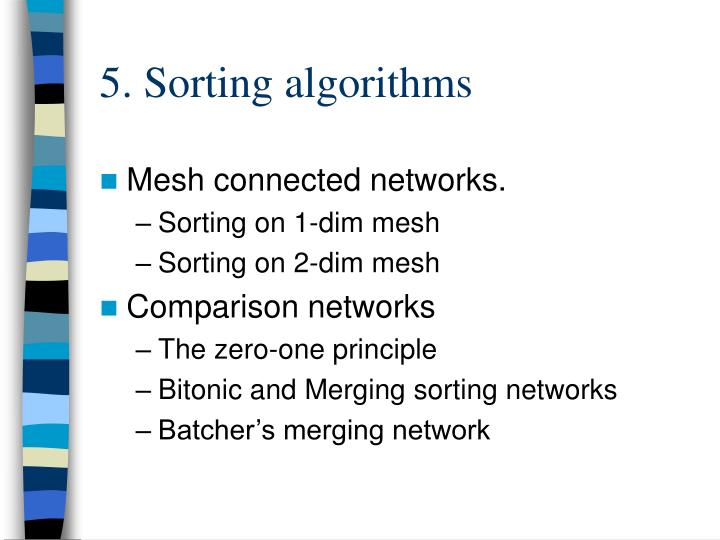 5. Sorting algorithms