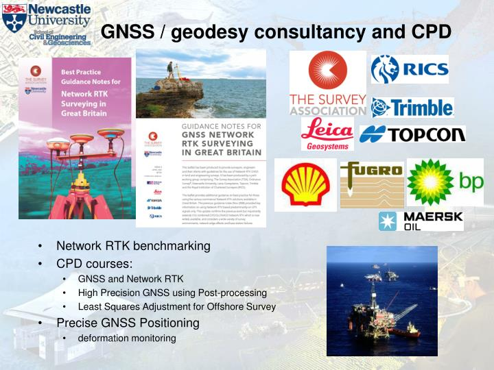 GNSS / geodesy consultancy and CPD