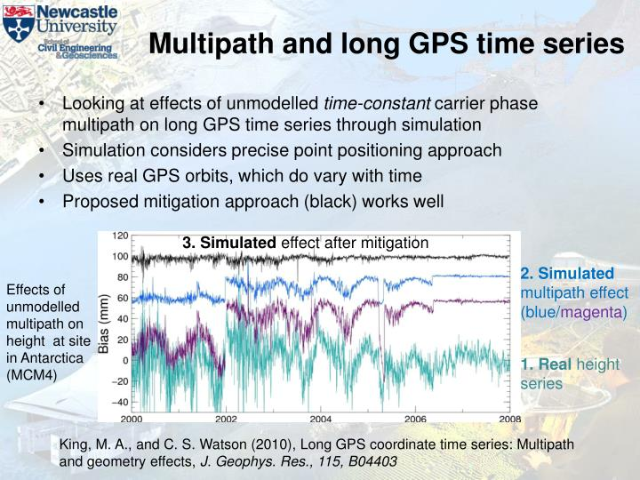 Multipath and long GPS time series