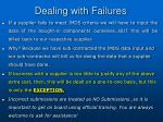 dealing with failures