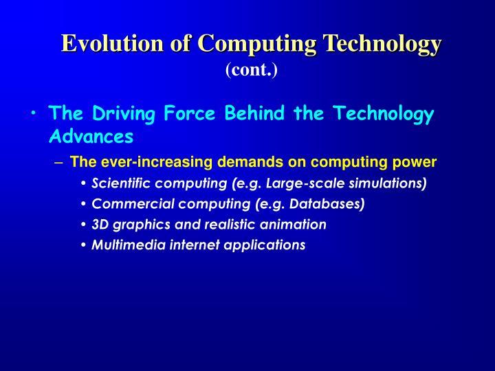 Evolution of Computing Technology