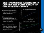 best practice raising data center set point leads to greater efficiency