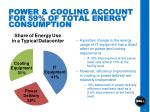 power cooling account for 59 of total energy consumption