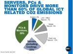 servers pcs monitors drive more than 60 of global ict related co2 emissions
