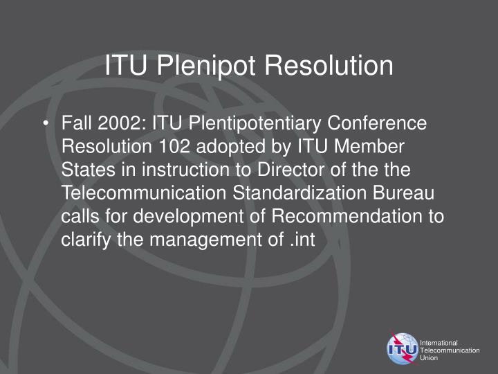 ITU Plenipot Resolution