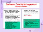 software quality management ability to perform