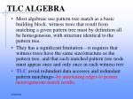 tlc algebra