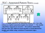 tlc annotated pattern trees example