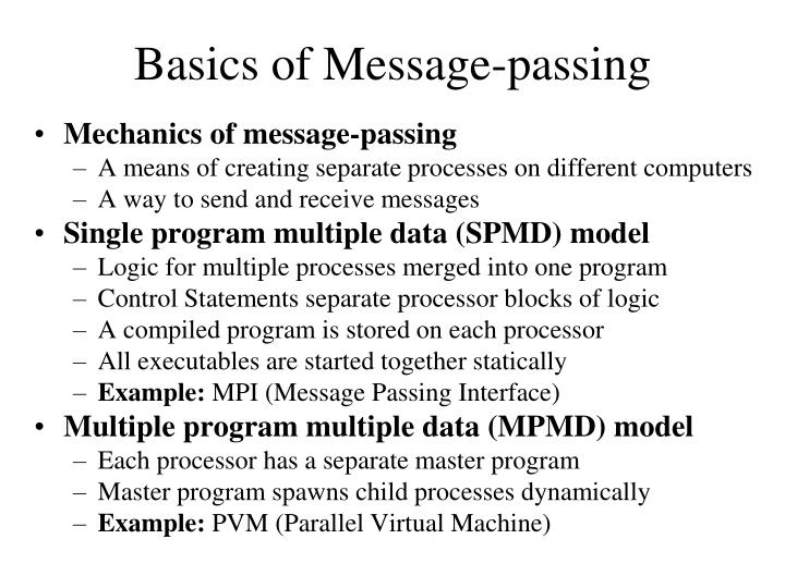 basics of message passing n.
