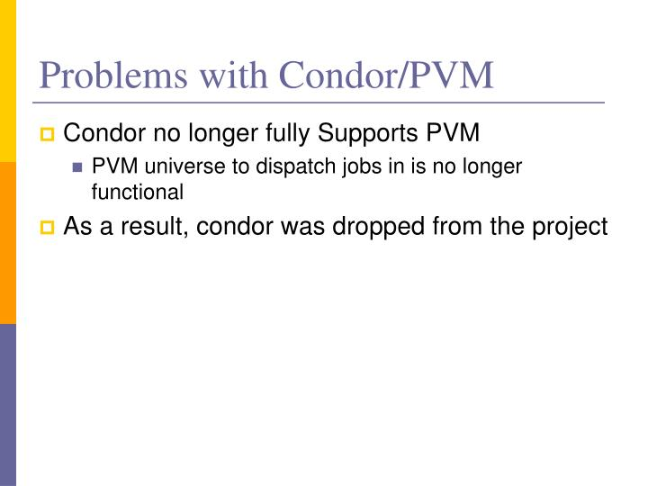 Problems with Condor/PVM