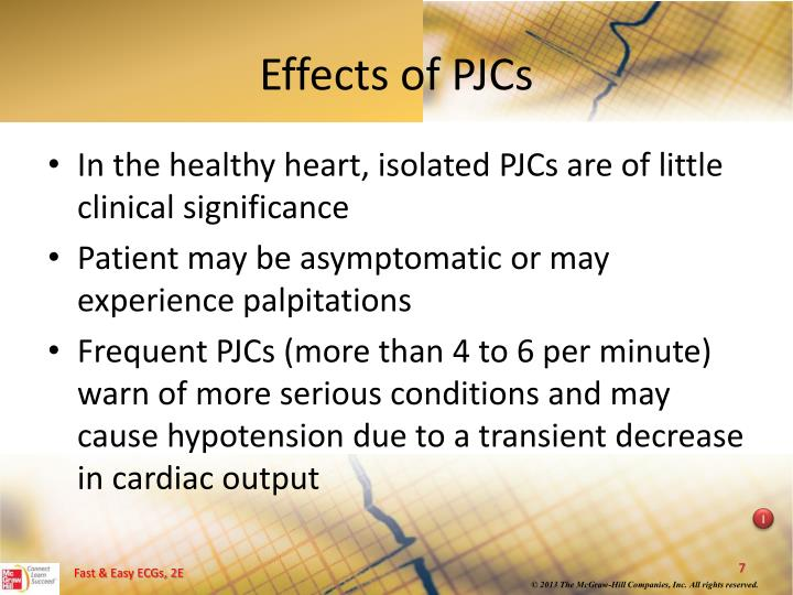 Effects of PJCs