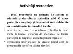 a ctivit i recreative