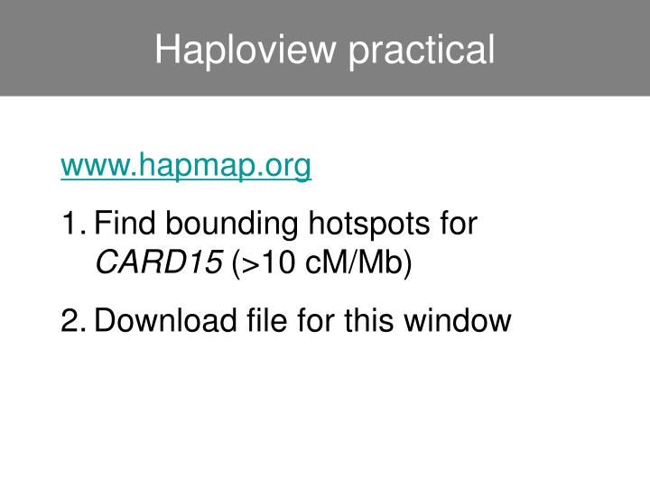 Haploview practical