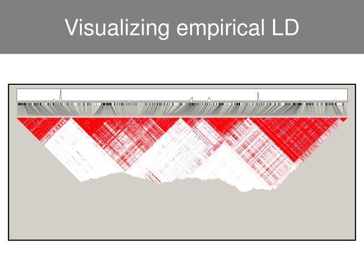 Visualizing empirical LD