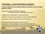 football supporters europe