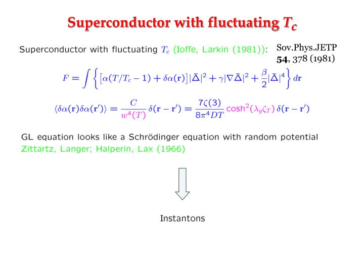 Superconductor with fluctuating