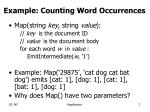 example counting word occurrences