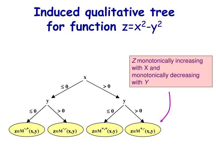 Induced qualitative tree