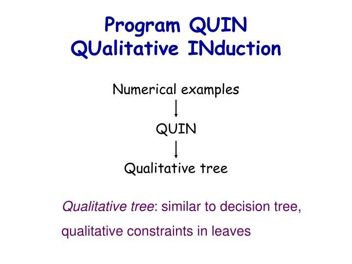 Program QUIN