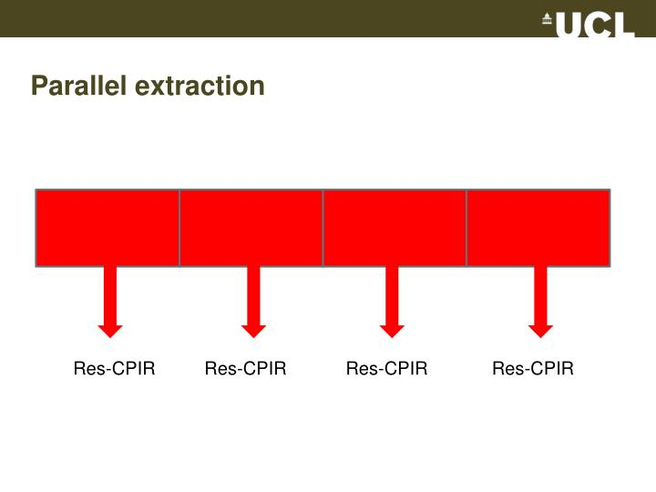 Parallel extraction