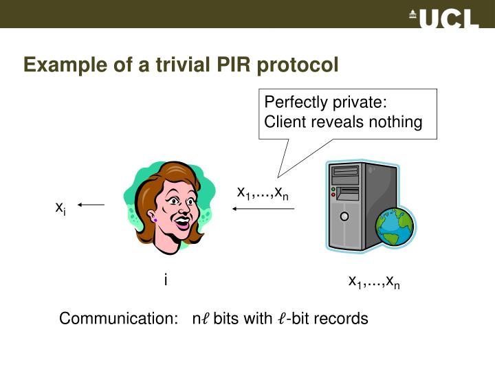 Example of a trivial PIR protocol