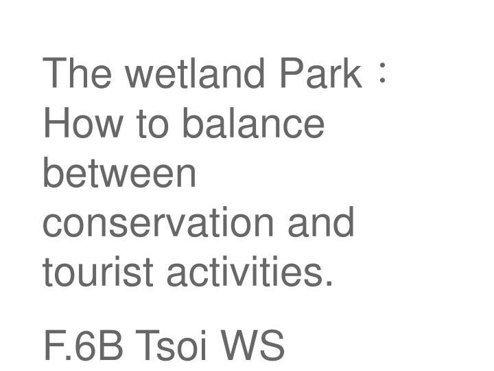 The wetland Park