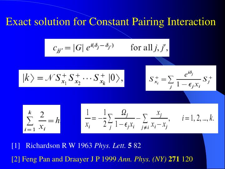Exact solution for Constant Pairing Interaction