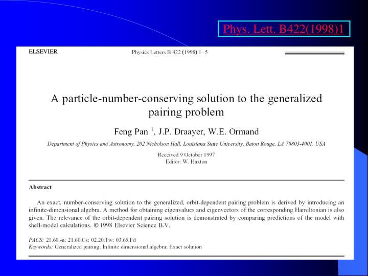 Phys. Lett. B422(1998)1