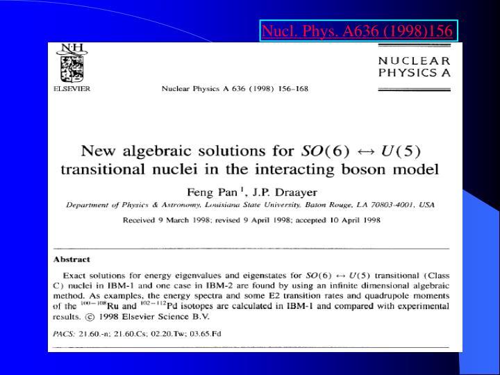 Nucl. Phys. A636 (1998)156