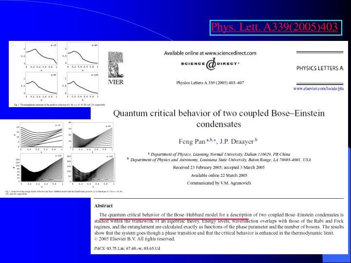 Phys. Lett. A339(2005)403