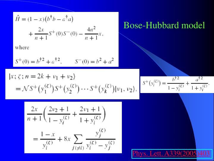 Bose-Hubbard model