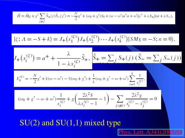 SU(2) and SU(1,1) mixed type