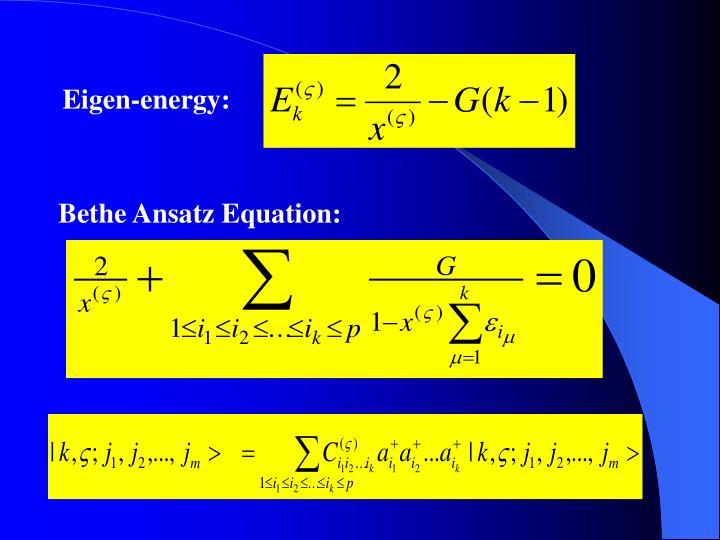 Eigen-energy: