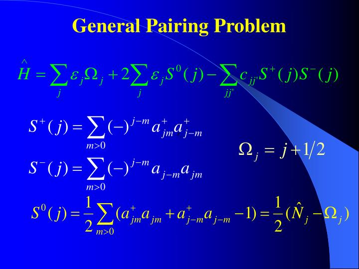 General Pairing Problem