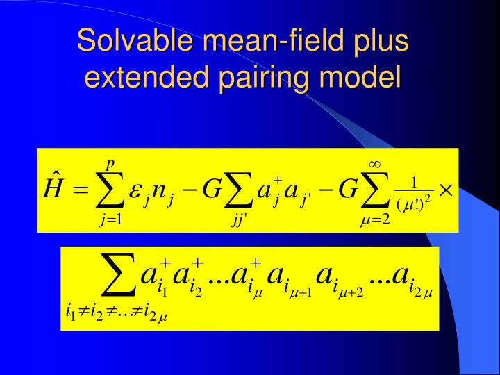 Solvable mean-field plus extended pairing model