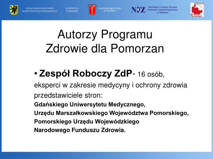 Autorzy Programu