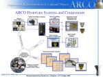 arco prototype systems and components