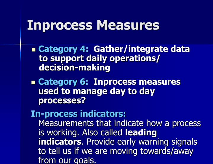 Inprocess Measures