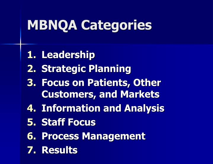 Mbnqa categories