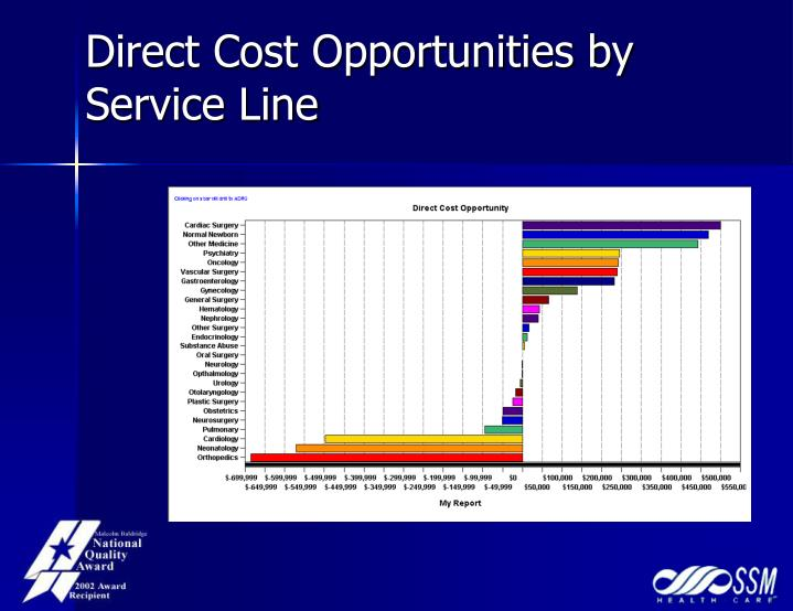 Direct Cost Opportunities by Service Line